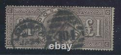£1 BROWN SG 185 (WMK. Crowns) CO-OC 104 Duplex Cancel left side reperforated