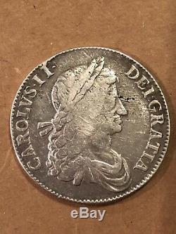 1663 Great Britain Crown, XV, KM-417.5