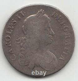 1666 Charles II CROWN 5/- Coin Great Britain Great Fire of London