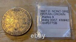 1667 GREAT BRITAIN CROWN Charles II KM#422.3