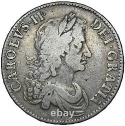 1671 Crown Charles II British Silver Coin