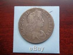 1679 Great Britain Crown Silver coin