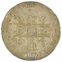 1681 Charles II Crown Fourth Bust T. Tertio Great Britain Silver Coin