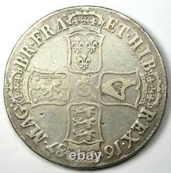 1687 Great Britain England James II Crown Coin VF / XF Details Rare
