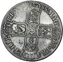 1688 Crown James II British Silver Coin Nice