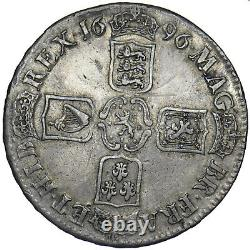 1696 Crown William III British Silver Coin Nice