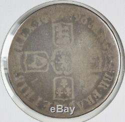 1696 Great Britain UK Silver Crown William III