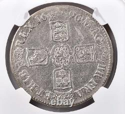 1696 Great Britain William III Silver Crown Ngc F-12 L@@k