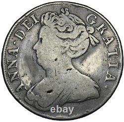 1713 Crown Anne British Silver Coin