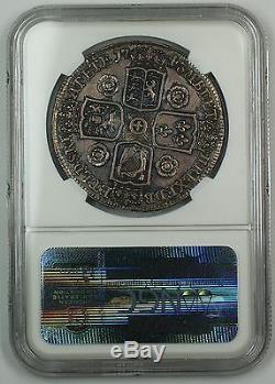 1743 Great Britain Silver Crown ESC-124 Roses NGC AU Details Surf. Hairlines AKR