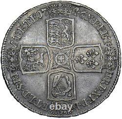 1746 Lima Crown George II British Silver Coin Nice