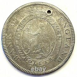 1804 Great Britain George III Crown 5 Shilling Silver Bank of England Token #3