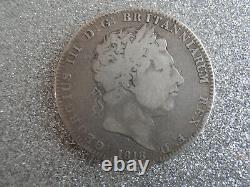 1818 George III 3rd Silver Crown Coin LIX Edge