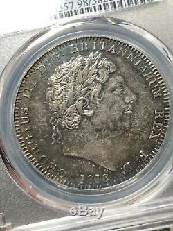 1818 LIX Edge Great Britain 1 Crown PCGS AU Details Lot#G568 Silver