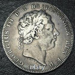 1819 GREAT BRITAIN CROWN. 925 SILVER King George III Slaying the Dragon