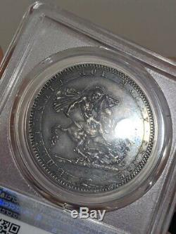 1819 Great Britain Crown in PCGS AU-58 with dark Rainbow Toning TrueView