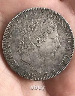 1819 Great Britain GEORGIUS III Crown LIX silver coin