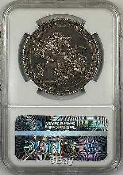 1819 Lix Great Britain Silver Crown Coin NGC XF Details Reverse Damage