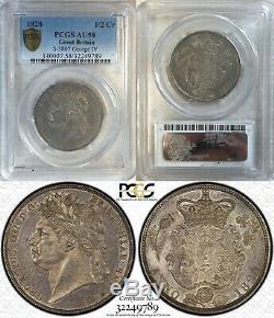 1820 Great Britain 1/2 Crown PCGS AU58 KM#676 Silver S3807 M64