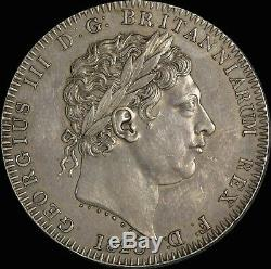1820 Great Britain George III Lx Silver Crown S#3787 Extremely Fine (PCGS AU50)
