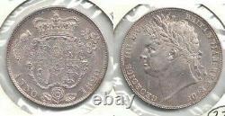 1820 Great Britain George IV Silver Half Crown KM #676 Brilliant Uncirculated