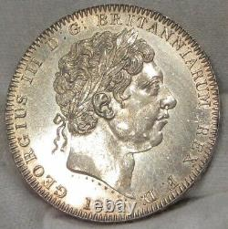 1820 Great Britain Silver Crown Uncirculated Details CLEANED #061620
