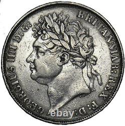 1821 Crown George IV British Silver Coin Nice