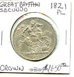 1821 Great Britain PL Secundo Crown PL Very Nice