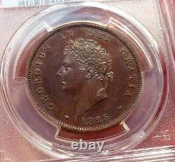 1826 Great Britain George IV Proof Penny, PCGS PR63 Rare
