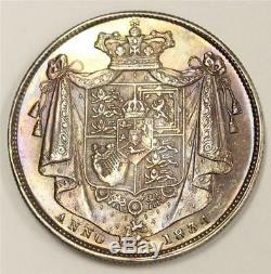1834 Half Crown Great Britain WW in script S3834 Choice Uncirculated MS63