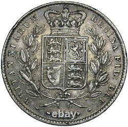 1844 Crown (star Stops) Victoria British Silver Coin Nice