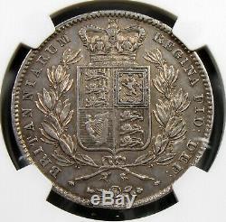 1844 Great Britain Crown, NGC AU details, Cinquefoil stops