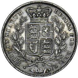 1845 Crown Victoria British Silver Coin V Nice