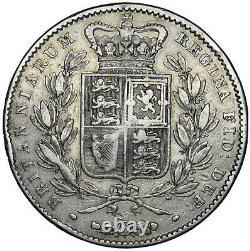 1845 Crown (cinquefoil Stops) Victoria British Silver Coin Nice