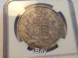 1845 Great Britain Crown NGC AU 55