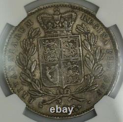 1845 Great Britain Crown XF45 NGC 943124-22