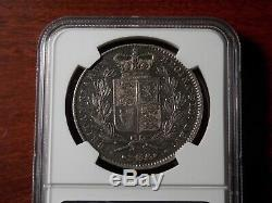 1845 Great Britain Crown large silver coin NGC XF Queen Victoria Young Head