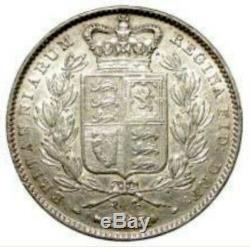 1845 Great Britain Queen Victoria Silver Crown Cinquefoil