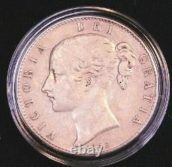 1845 Great Britain Victoria. 925 Silver Crown KM-741 Bright Some Luster #CL4