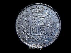 1845 Great Britain Victoria Silver Crown Rare High Grade