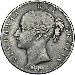 1847 Crown Victoria British Silver Coin