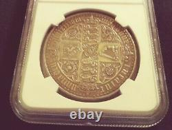 1847 NGC PF 58 UN DEC Great Britain Crown Gothic Type Silver Coin