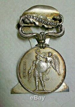 1854 Great Britain Victoria Silver Crimea War Service Medal Desk Display Piece