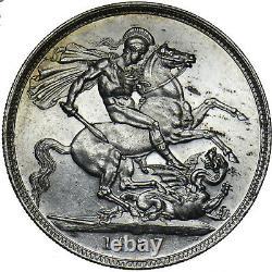 1887 Crown Victoria British Silver Coin V Nice