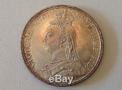 - 1887 Great Britain Victoria Golden Jubilee Crown Choice Uncirculated Unc