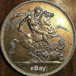 1887 UK GREAT BRITAIN VICTORIA SILVER CROWN Stunning high grade example