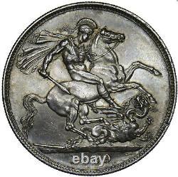 1889 Crown Victoria British Silver Coin V Nice