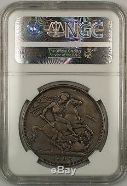 1893 LVI Great Britain Silver Crown Coin NGC VF-25