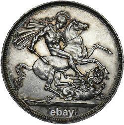 1894 LVIII Crown Victoria British Silver Coin V Nice