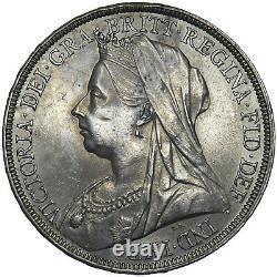 1895 LVIII Crown Victoria British Silver Coin V Nice